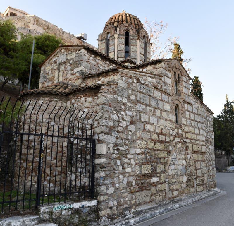 Bak av kyrkan av metamorfos royaltyfri fotografi