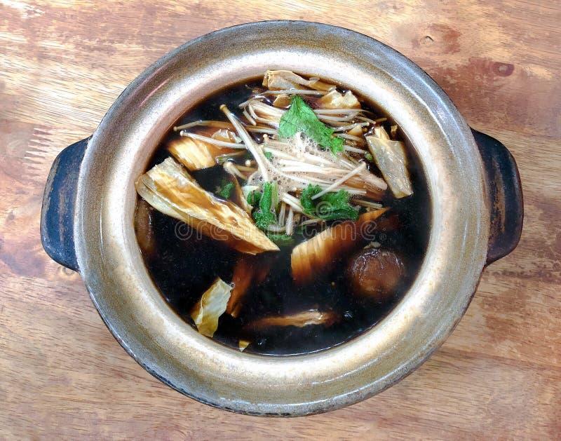 Bak Kut oder Hokkien, chinesische Kräuterküche lizenzfreie stockbilder