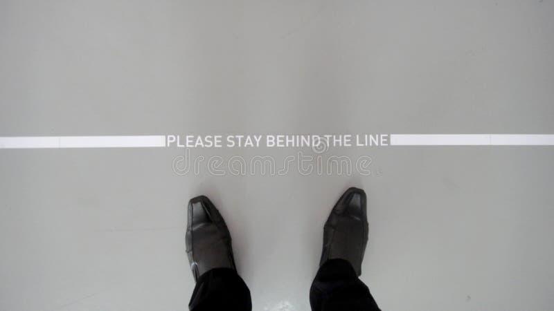 bak linje arkivbild