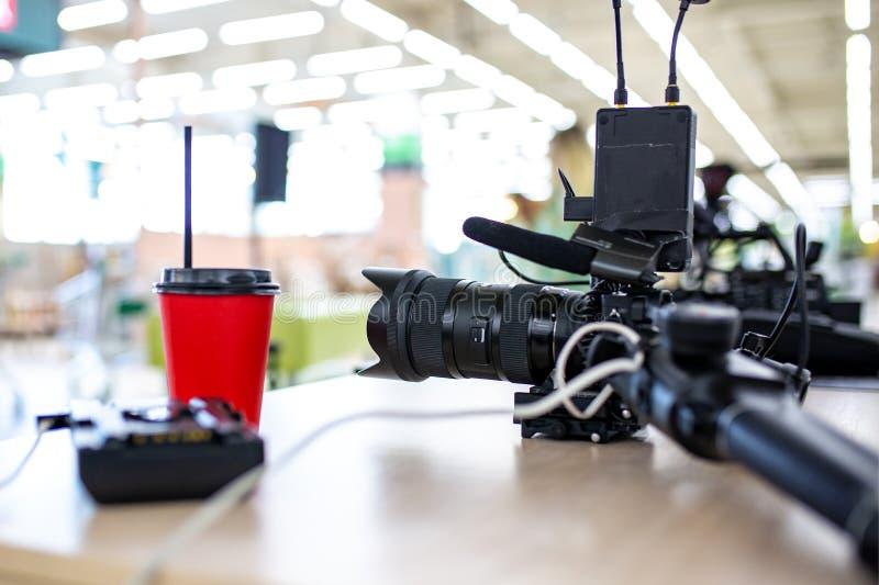 Bak platserna av video produktion- eller videoskytte royaltyfria foton