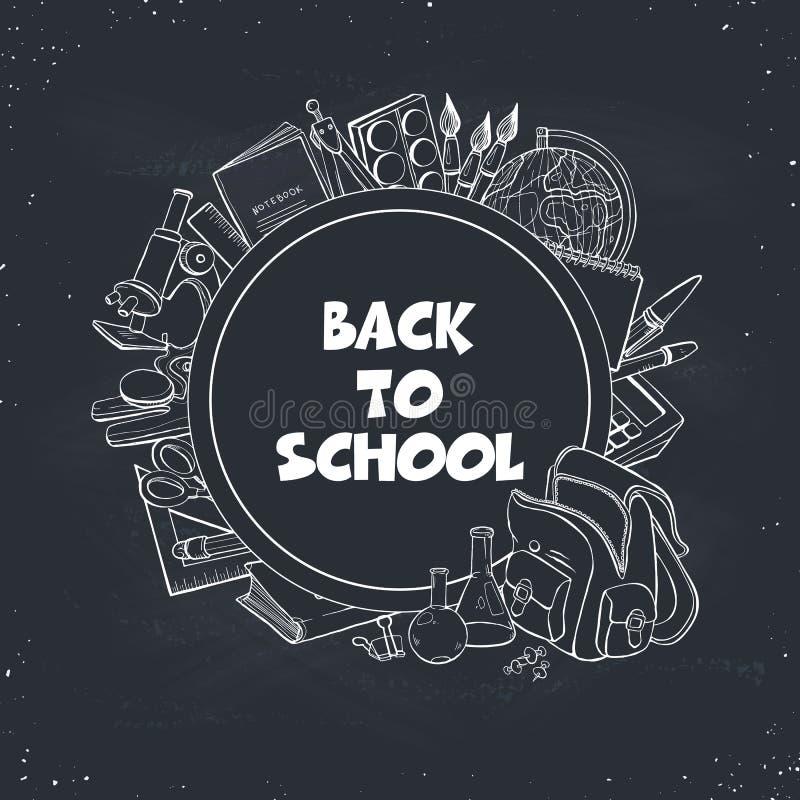 bak sammansättningsskolan till stock illustrationer