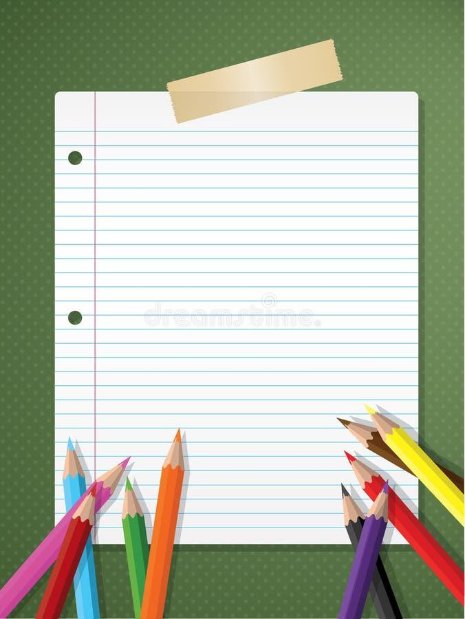 Bak till skolabakgrund stock illustrationer