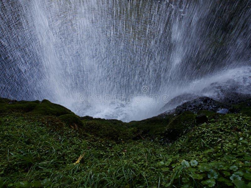 Bak vattenfallet royaltyfri fotografi