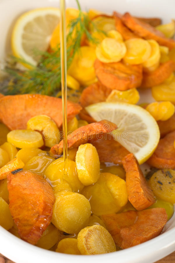 bakad grönsak royaltyfri bild
