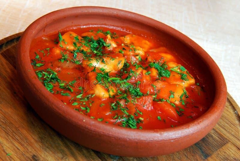 bakad meatpotatis arkivfoto