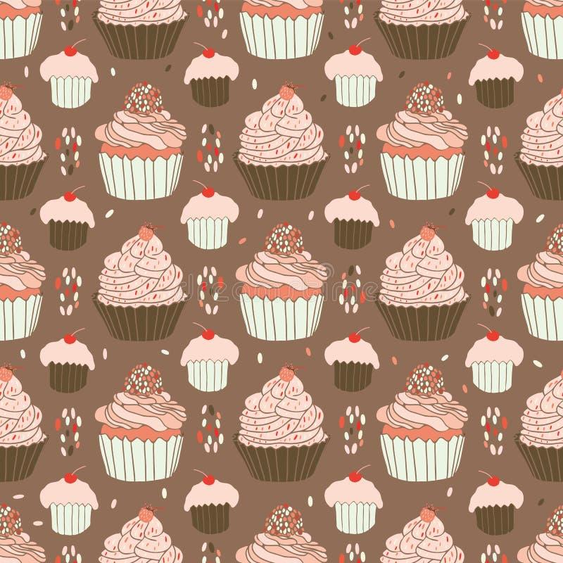 Bakad modell för muffinmatvektor royaltyfri illustrationer