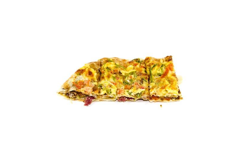 bakad ny pizza royaltyfri foto