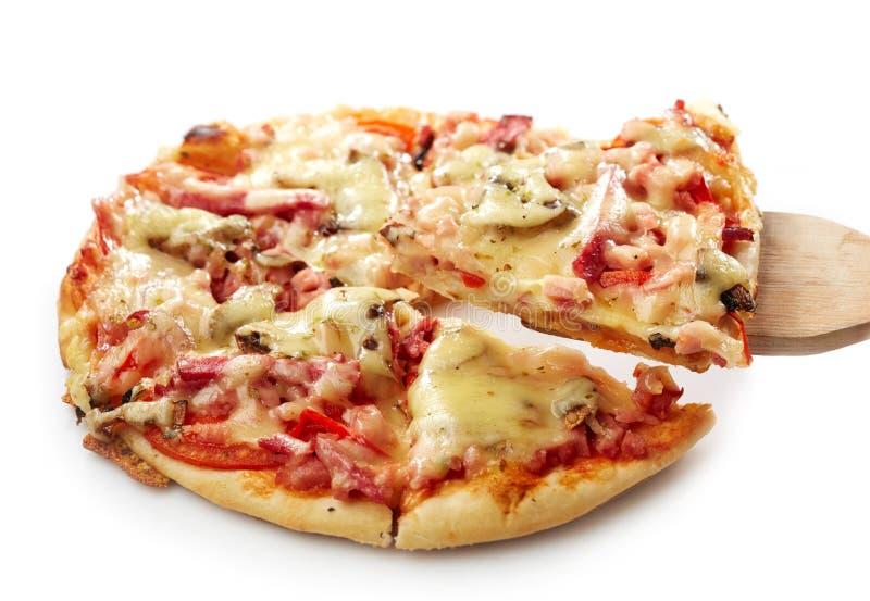 bakad nytt pizza arkivbilder