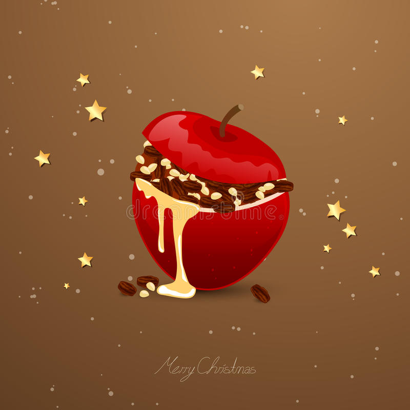 Bakade Apple vektor illustrationer