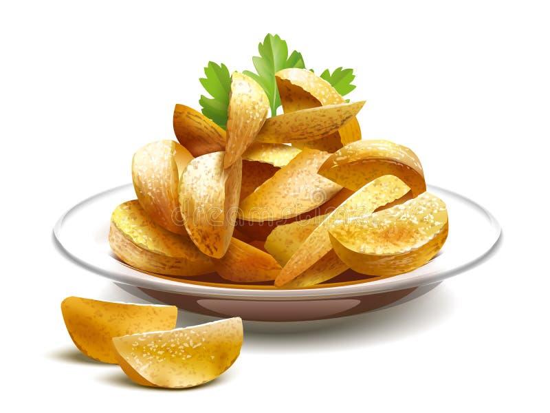 bakade potatisar royaltyfri illustrationer