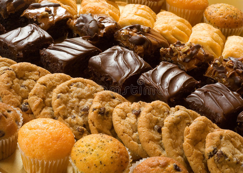 bakade sötsaker arkivbild