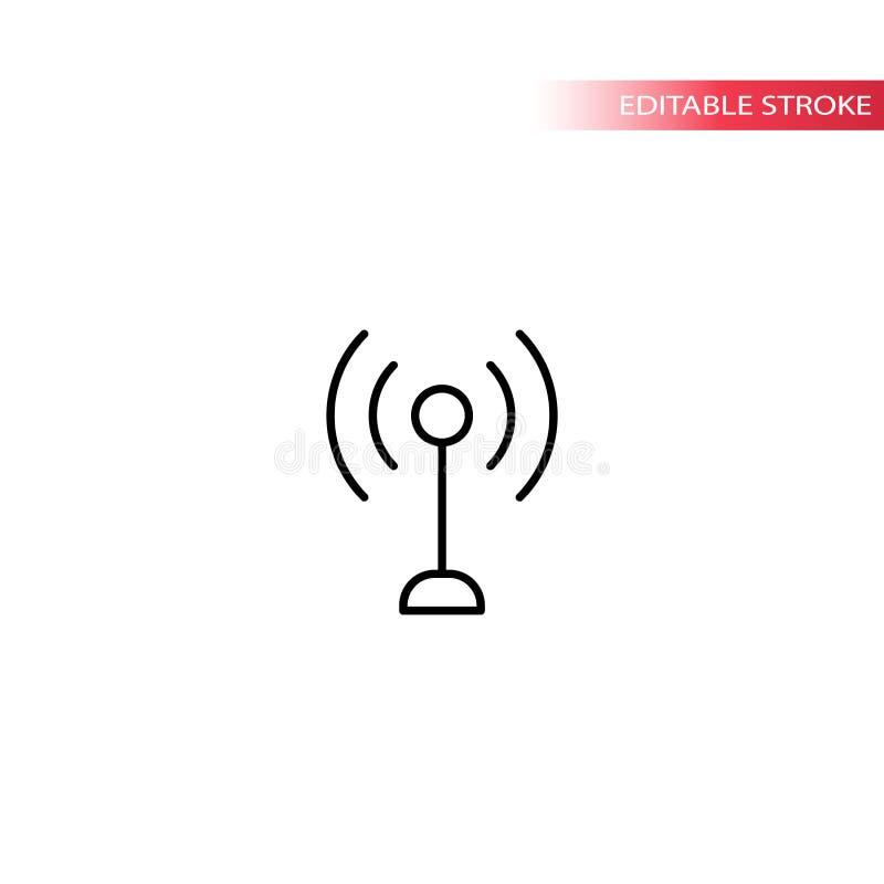 Bakanu wiresell symbolu cienka kreskowa wektorowa ikona ilustracja wektor