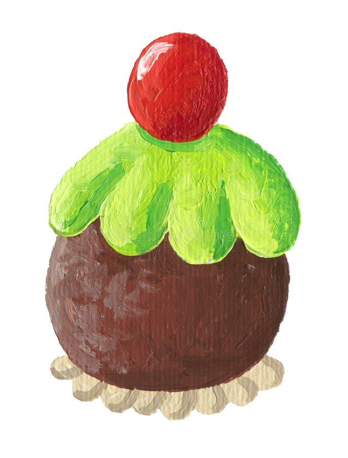 bakar ihop läcker Cherrychoklad royaltyfri illustrationer