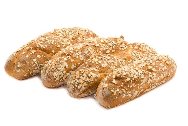 bakat bröd rullar nytt royaltyfri fotografi