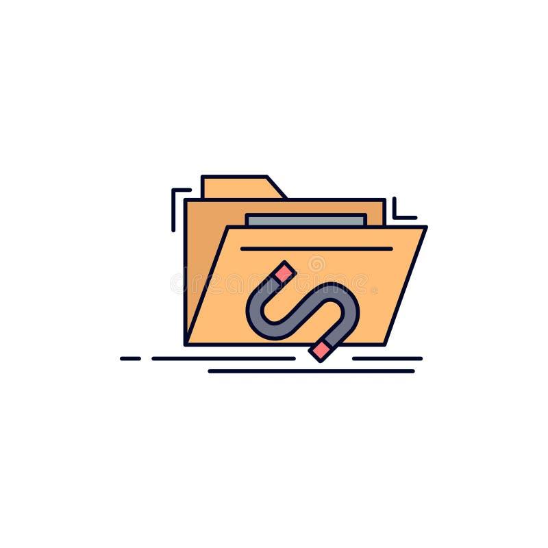 Bakdörr bedrift, mapp, internet, för färgsymbol för programvara plan vektor royaltyfri illustrationer