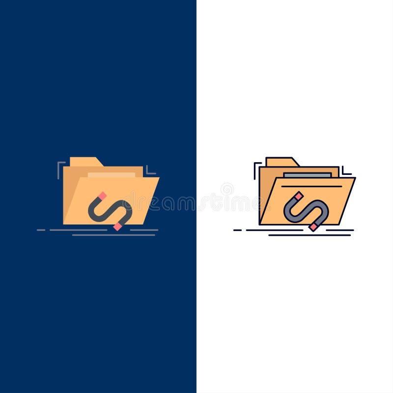 Bakdörr bedrift, mapp, internet, för färgsymbol för programvara plan vektor vektor illustrationer