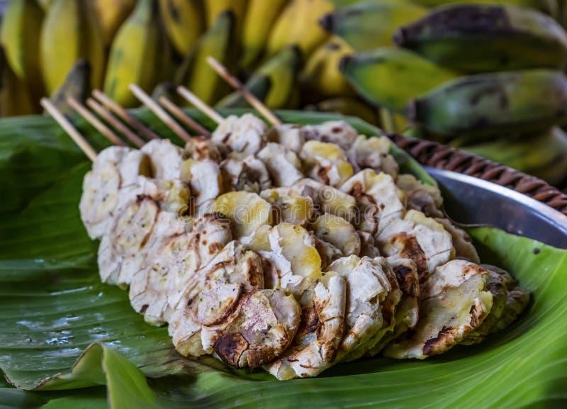 Bake banana stock photos