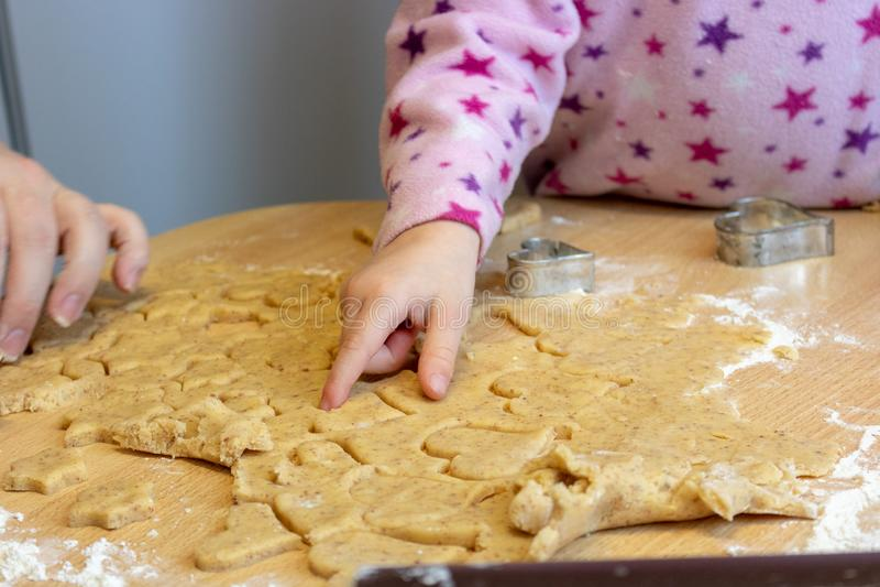 Bake cookies for Christmas stock photos