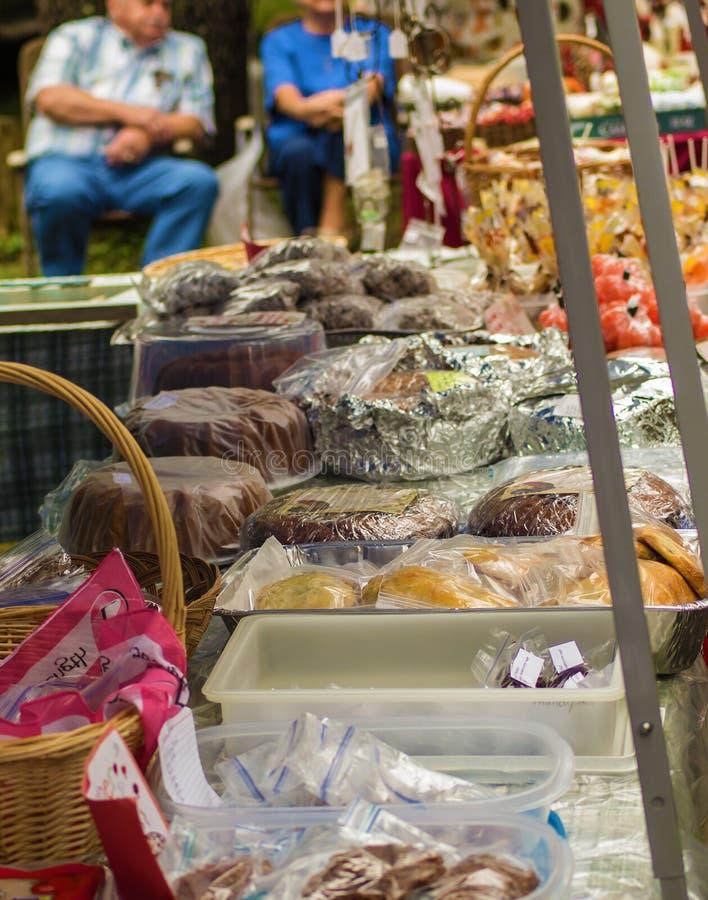 Bake Goods For Sale at the Heritage Day – Camp Bethel, VA, USA. 32nd Brethren Heritage Celebration, Fincastle, VA – October 1st: Homemade baked stock photo