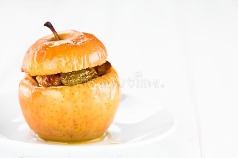 Baked充塞了苹果 库存图片
