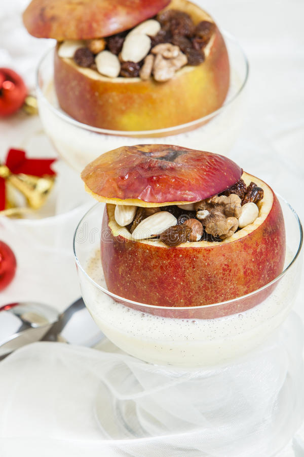 Download Baked apple stock image. Image of winter, glasses, apple - 28872603