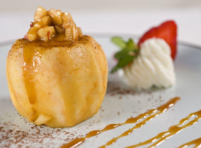 Baked apple dessert royalty free stock image