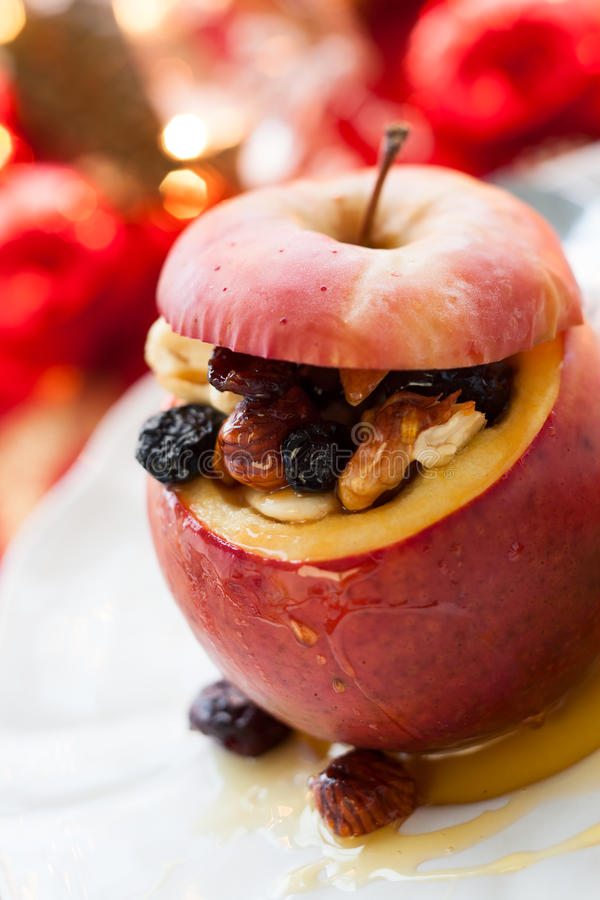 Download Baked apple stock image. Image of sweet, mixed, vertical - 33428501