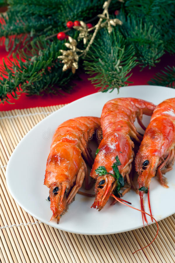 Baked Argentinian Prawns in White Wine