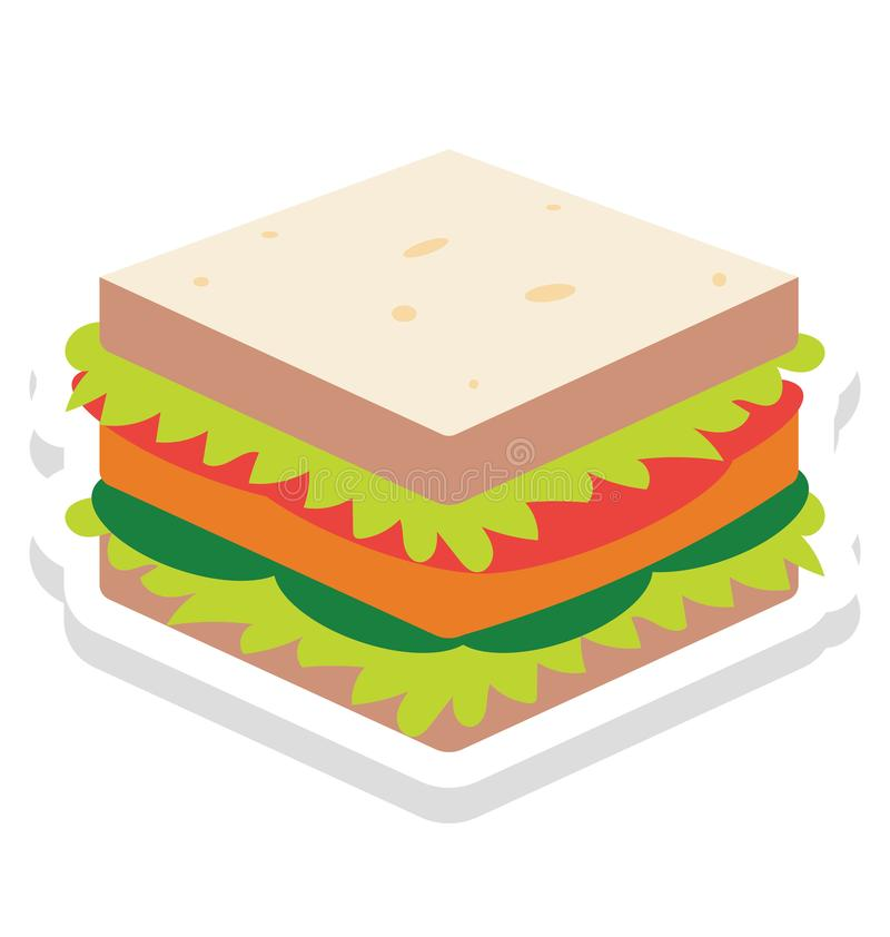 Baked, bakery Vector Icon that can be easily modified or edit royalty free illustration
