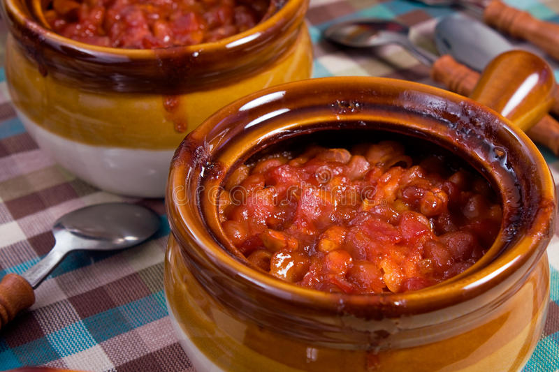 Download Baked Beans stock image. Image of earthenware, sauce - 10811625