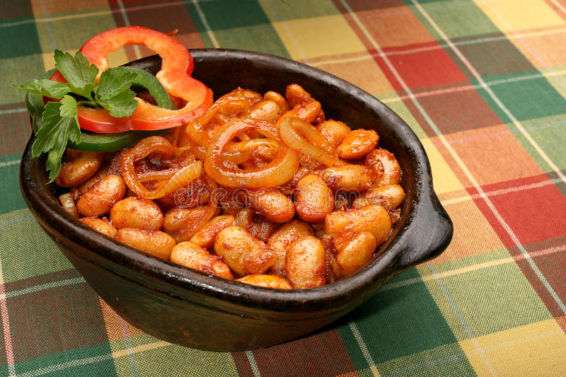 Download Baked beans stock image. Image of domestic, tablecloth - 22020553