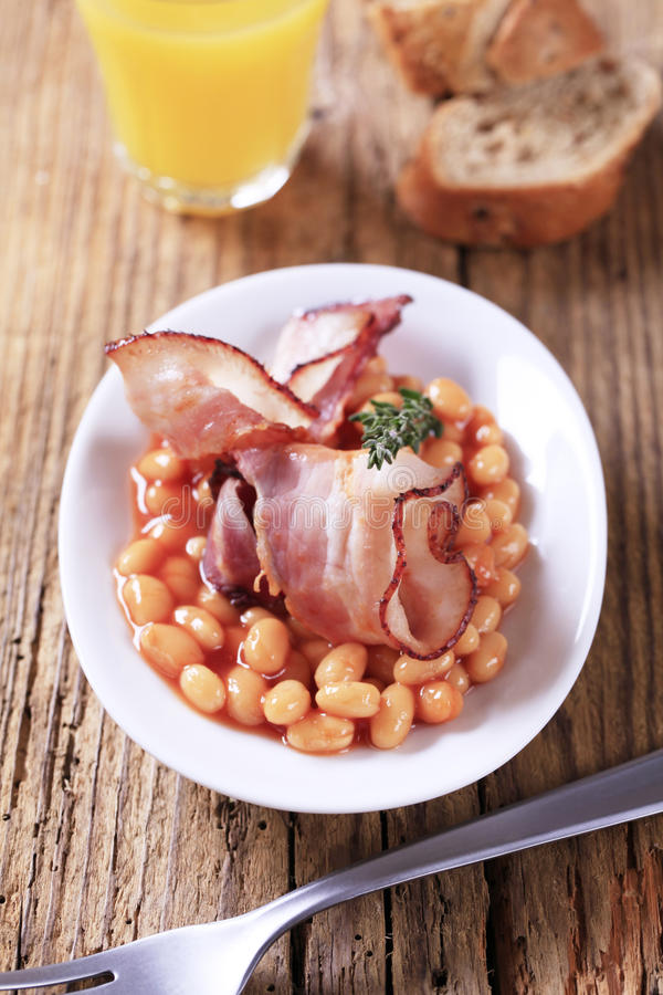 Baked Beans And Bacon Royalty Free Stock Images
