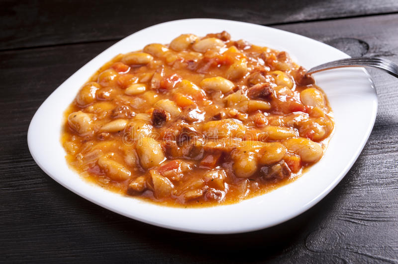 Baked beans royalty free stock photos