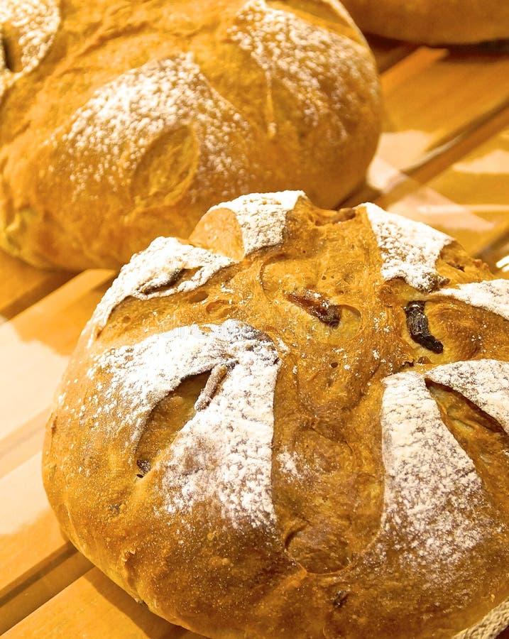 Baked bread closeup stock photos