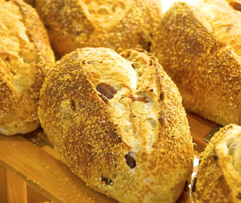 Baked bread closeup royalty free stock images