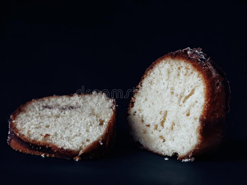 Baked bread with a red crust royalty free stock images