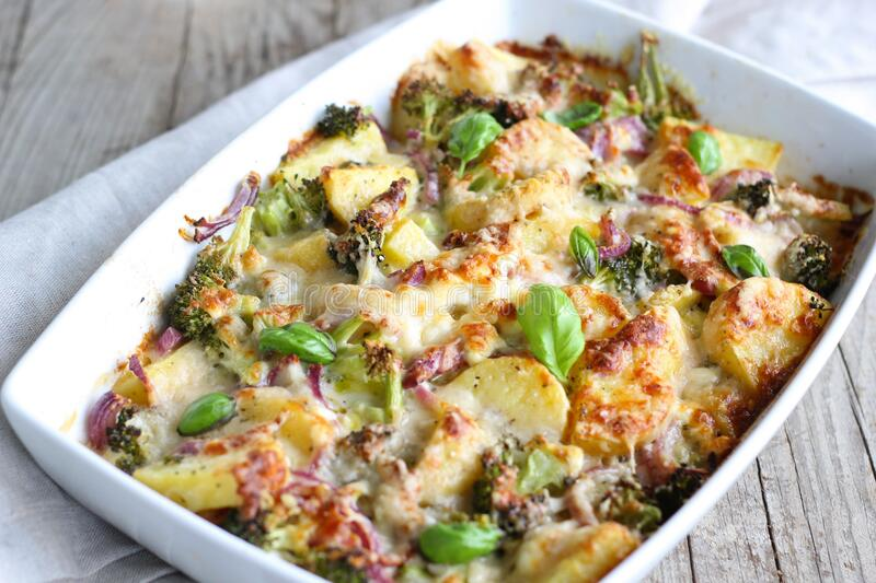 Baked casserole stock photos