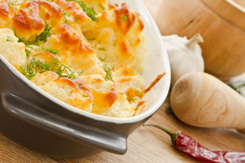 Download Baked Cauliflower stock image. Image of appetizer, closeup - 28893259