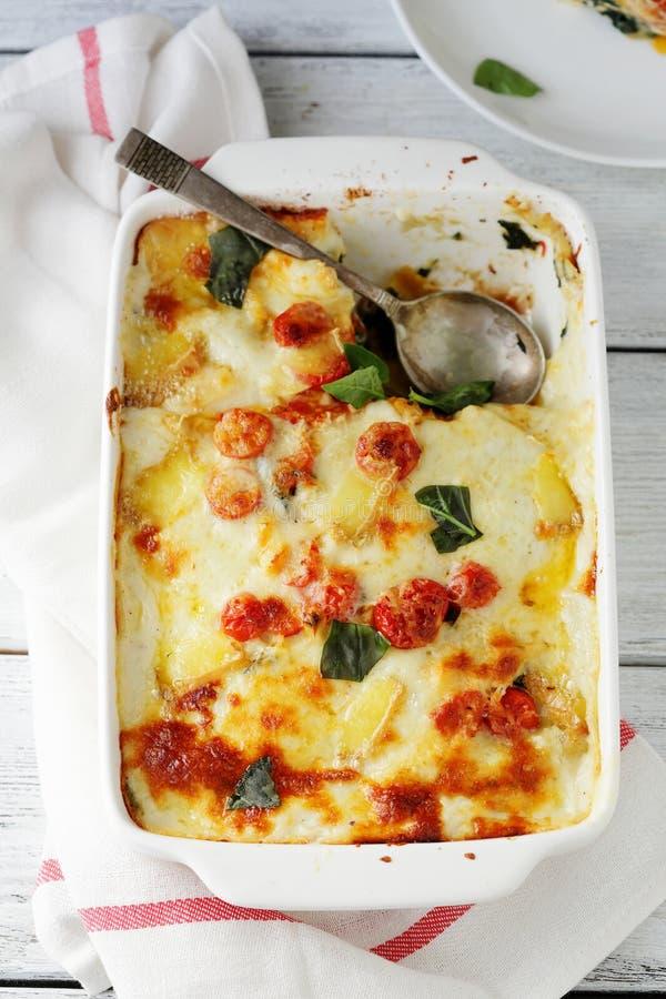 Free Baked Cheese Lasagna Royalty Free Stock Image - 66158306
