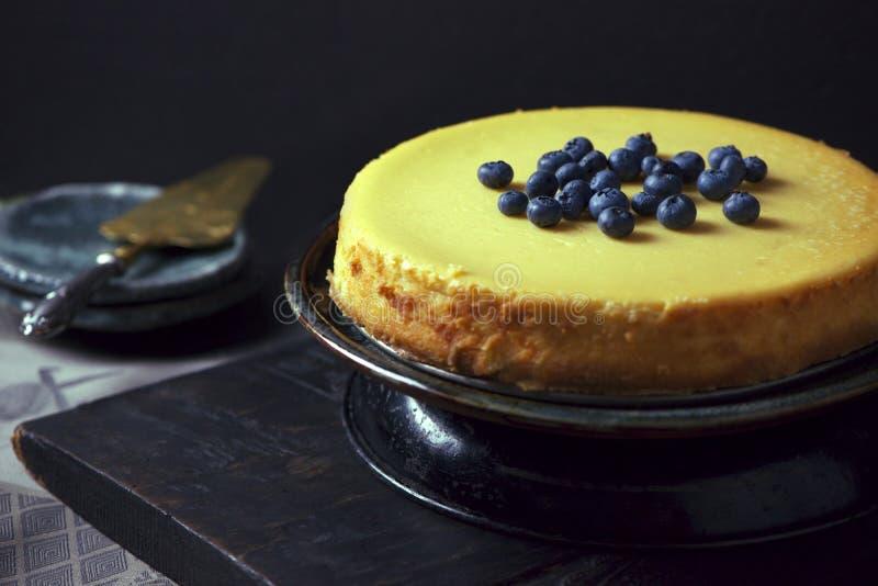 Baked cheesecake stock photos