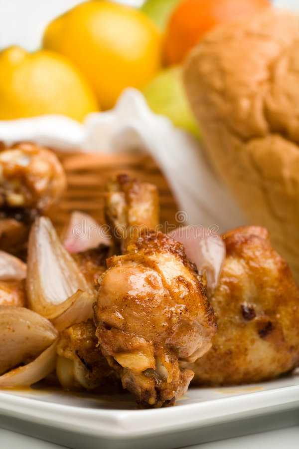 Baked Chicken royalty free stock photo