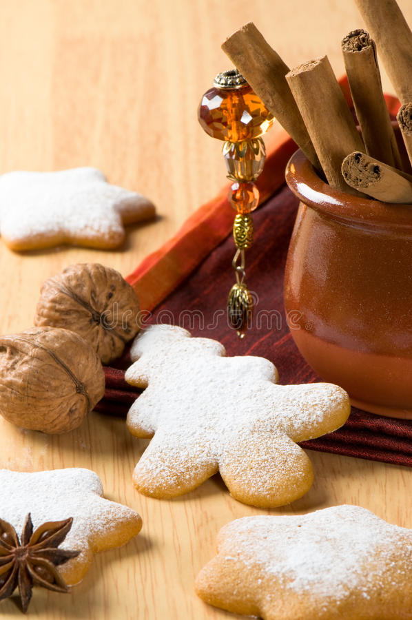 Baked Christmas Cookies royalty free stock photos