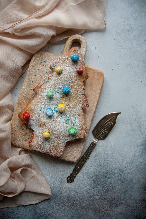 Christmas tree cake stock image