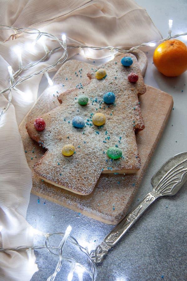 Christmas tree cake stock photos