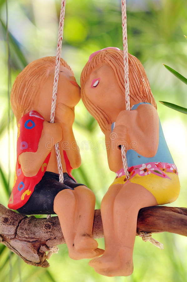 Download Baked clay dolls stock image. Image of swing, adorn, child - 22476041