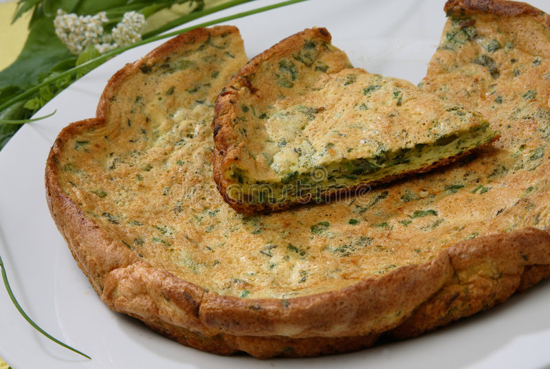 Download Baked Egg Omelette With Herbs Stock Image - Image: 7950229