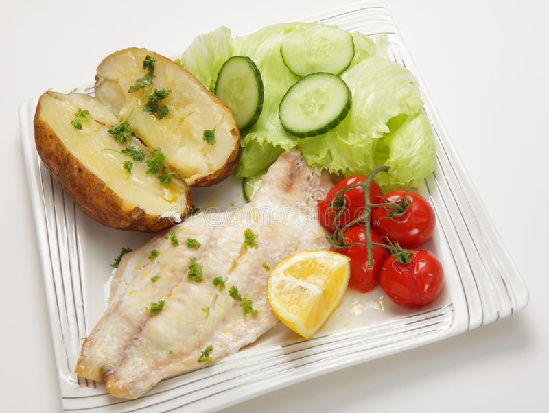 Download Baked fish fillet meal stock image. Image of cucumber - 26636011