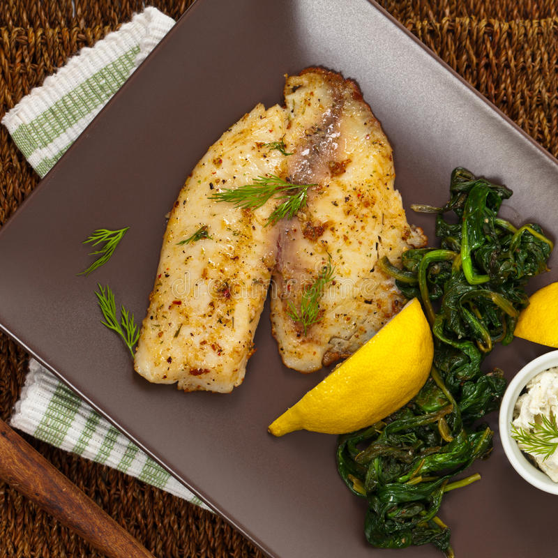 Baked Fish Fillet stock images