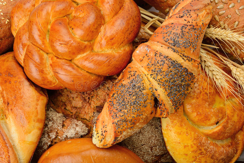 Baked goods and pastry products. Background baked goods and pastry products stock photography