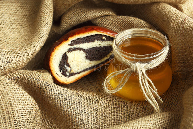 Baked Goods with Poppy and Honey stock image